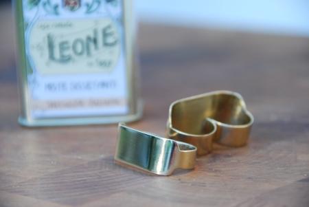 Doble anillo latón