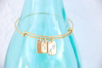 Pulsera charms oro front